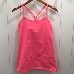 Great Pink Lululemon Tank W/Bra—Nice Condition! 6